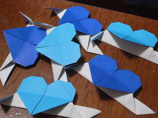 ハート 折り紙:折り紙でハートの折り方-divulgando.net