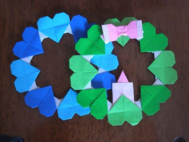 簡単 折り紙 折り紙リース作り方簡単 : divulgando.net