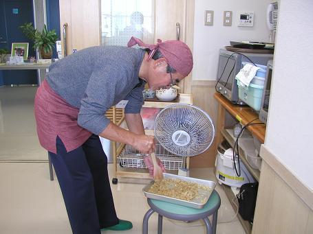 男の料理講座・照り焼きハンバーグ_c0180460_183692.jpg