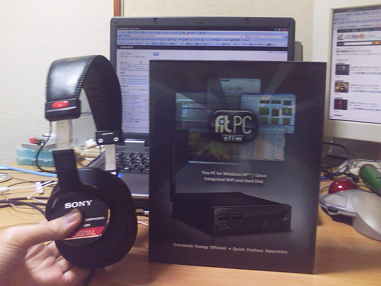 手のひら サイズの パソコン fit-PC Slim Barebones 512M _b0003577_6581274.jpg