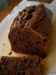 酒粕酵母でチョコパウンドケーキ(オレンジピール入り)_c0110869_235010100.jpg