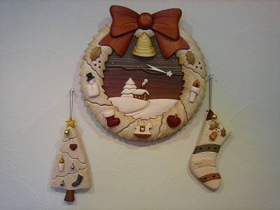 レリーフ組木絵(クリスマス)_b0100229_11544538.jpg