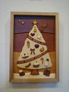 レリーフ組木絵(クリスマス)_b0100229_11563752.jpg