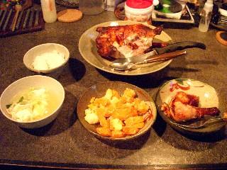 今日の夕飯はチキンオーブン焼き_e0166355_18121327.jpg
