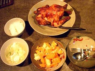今日の夕飯はチキンオーブン焼き_e0166355_1812288.jpg