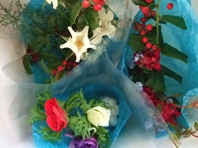 オークリーフ(クリスマスの小さな花束)_f0049672_15574044.jpg