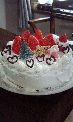 イブのケーキ。_c0176271_22314887.jpg