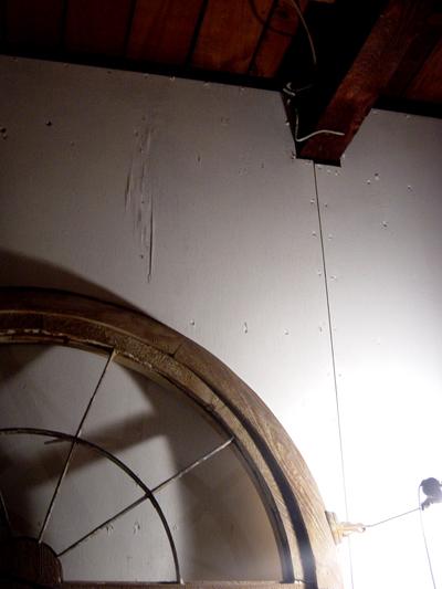 エントランス鉄枠設置 窓枠 内部塗装 _f0192906_7344170.jpg