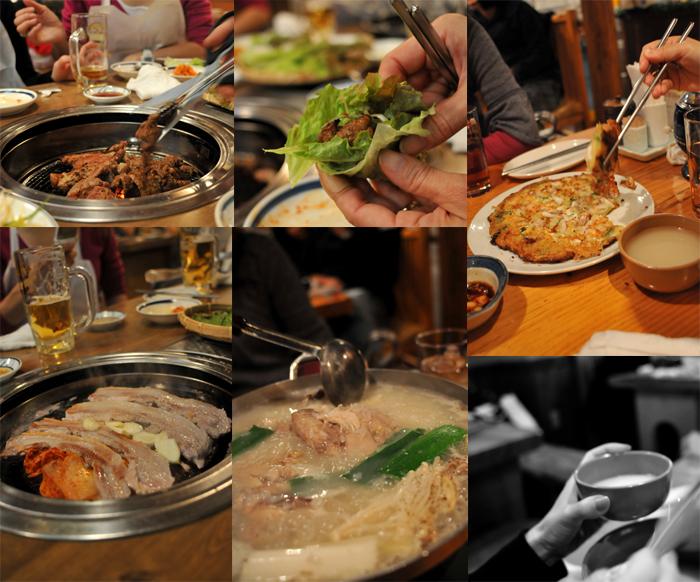 韓国料理とパラボラ_b0133509_23235418.jpg