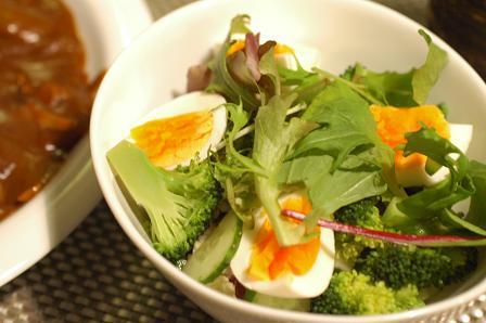 夫作 カレー&野菜のミルフィーユサラダ_c0116778_23514853.jpg