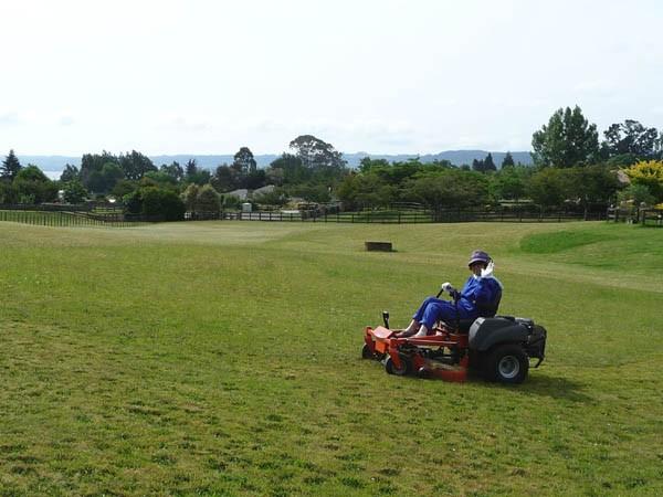 芝刈り終わって夕焼け空_e0133780_17573863.jpg