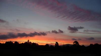 芝刈り終わって夕焼け空_e0133780_1825729.jpg