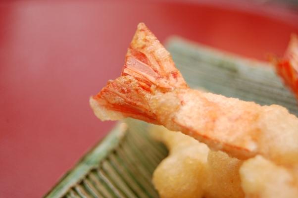 天ぷら まっすぐ エビ