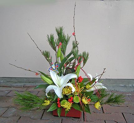 12月29日 2008お正月アレンジ_a0001354_22142452.jpg