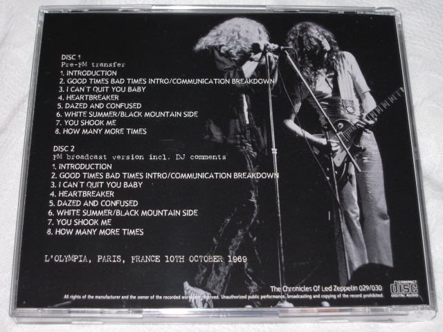 LED ZEPPELIN / ONE NIGHT STAND IN PARIS_b0042308_20564253.jpg