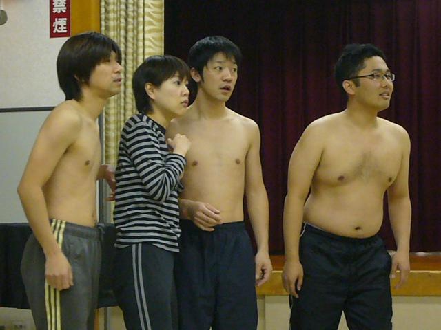 さすがに寒そうだったなぁ。アゴラでの本番はお客さんも居るだろうし稽古場よ... 2008年12月