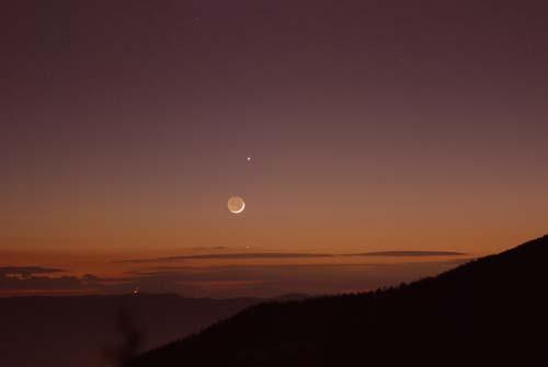 夕空に輝く金星 木星 月 水星_e0120896_6512626.jpg