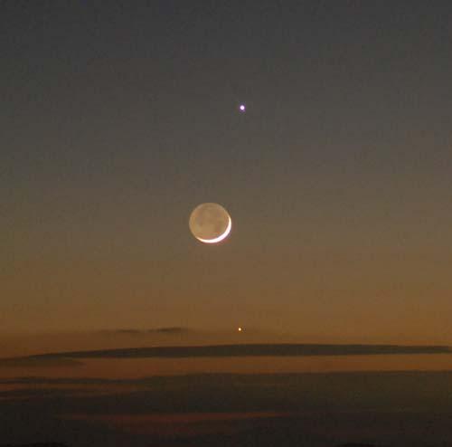 夕空に輝く金星 木星 月 水星_e0120896_6525792.jpg