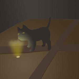 屋根裏の散歩猫