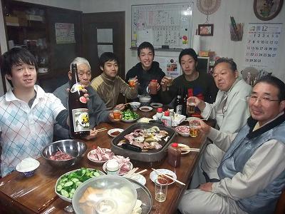 ほら貝・〆なえ  餅つき  肉分け_b0092684_1858877.jpg