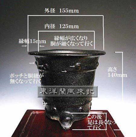 京楽焼万年青古鉢                   No.471_d0103457_12245436.jpg