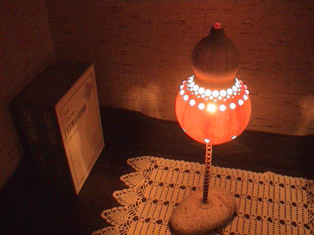 ひょうたんのランプ。_e0060555_1144357.jpg