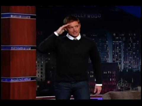 ジェンセン@Jimmy Kimmel Live(2)_b0064176_22131530.jpg