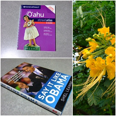 OBAMAの本とオアフマップ