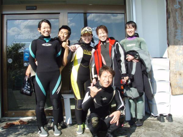 1月11日 JKダイビングチーム御一行様 _d0113459_1952321.jpg