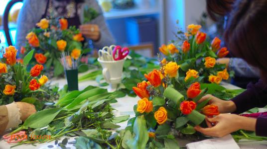 春のお花を使って。フレッシュレッスン☆_b0111306_23314433.jpg
