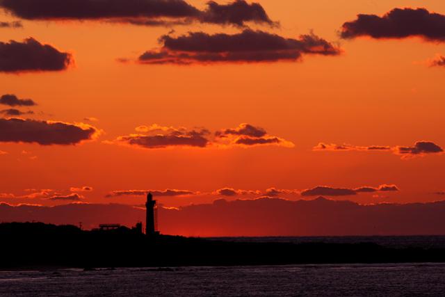 角島灯台の夕陽_d0074828_2318239.jpg