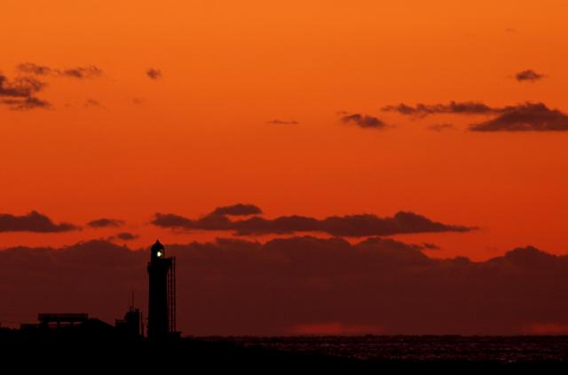 角島灯台の夕陽_d0074828_23195212.jpg