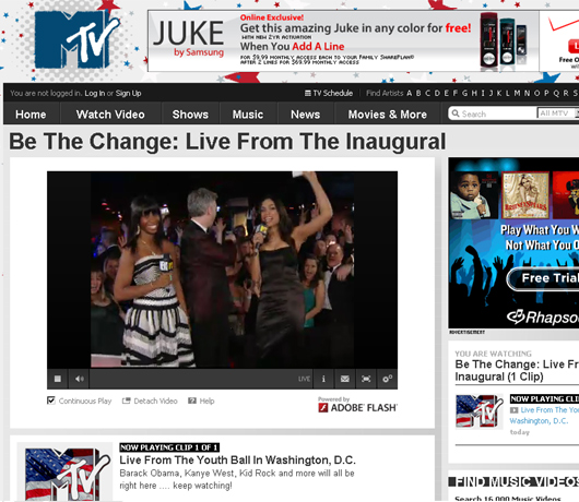 Watch Inauguration Live from The Youth Ball by MTV.com _b0007805_12202742.jpg