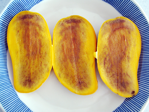 Ataulfo mango damaged by refrigeration