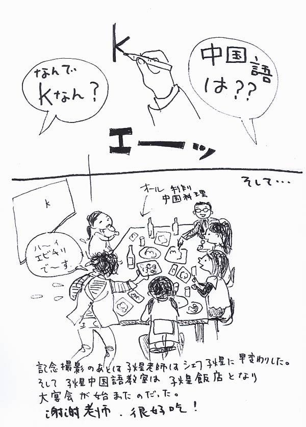 中国語教室でパーティー_f0072976_3203642.jpg