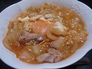 鶏とキャベツの辛味噌煮込み_c0025217_1848117.jpg