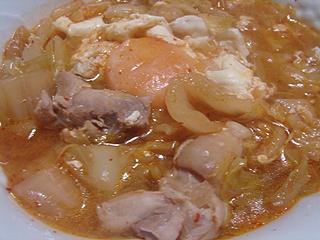 鶏とキャベツの辛味噌煮込み_c0025217_18482283.jpg