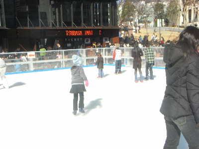 子供とスケート @赤坂サカス_f0141419_5564483.jpg