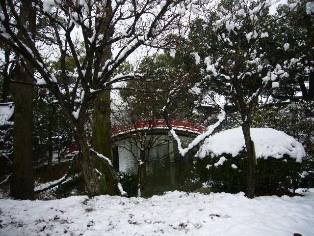 雪景色の太宰府へ。_c0175022_2212269.jpg