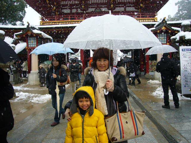雪景色の太宰府へ。_c0175022_222287.jpg