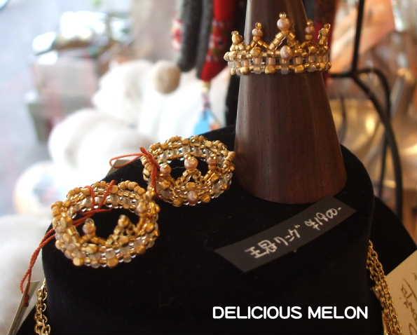 ★Riekoさんの新作「王冠シリーズ」ビーズアクセサリー★_c0108789_12402633.jpg