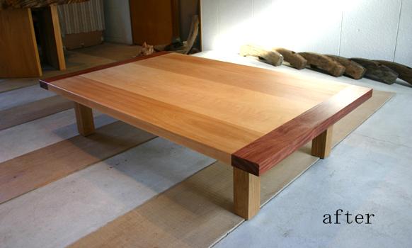 テーブルのリフォーム_f0171785_1744085.jpg