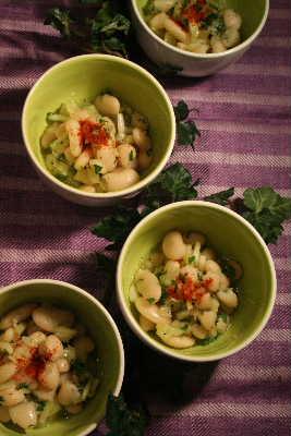 豆とセロリのサラダ_f0141419_721689.jpg