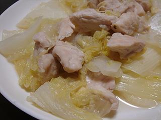 鶏ささみと白菜の重ね蒸し_c0025217_22411513.jpg