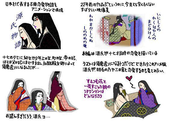 紫式部 源氏物語 アニメ 1987