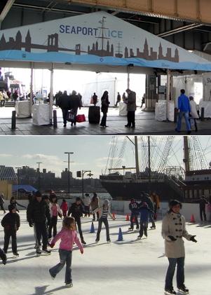 サウス・ストリート・シーポートにスケートリンク登場 Seaport Ice_b0007805_9102685.jpg