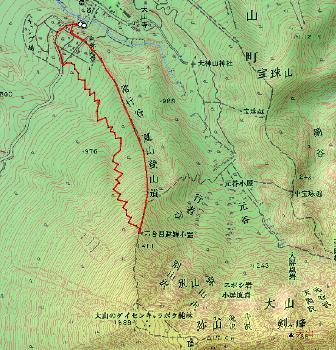 大山 山スキー  単独_d0007657_19272583.jpg