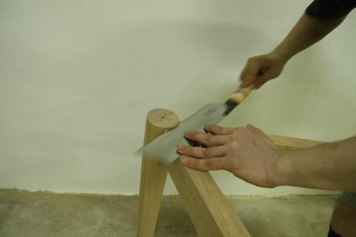 家具製作日誌02       丸テーブル編 (天板に 脚がつく)_e0155066_14574235.jpg