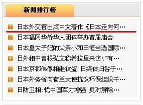 外務省小原雅博さんの中国語著書刊行の写真 人民網日本版アクセス1位_d0027795_1137526.jpg
