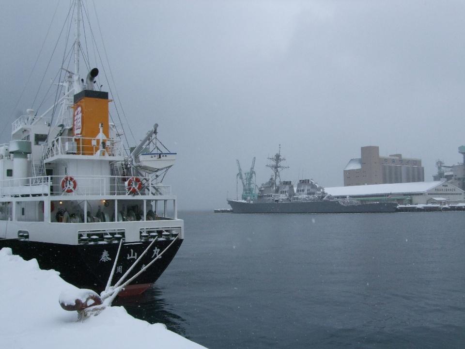 901) 小樽港 「米国第7艦隊所属 イージス駆逐艦『フィッツジェラルド』」 2009年2月8日_f0126829_1171834.jpg